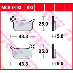 Placute de frana TRW MCB750SI