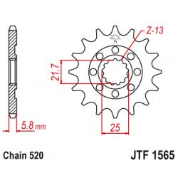 Roata dintata fata JTF1565,13