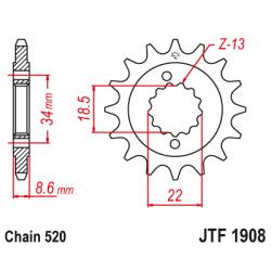 Roata dintata fata JTF1908,14