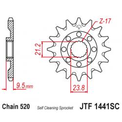 Roata dintata fata autocuratare JTF1441SC,13