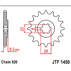 Roata dintata fata JTF1450,14