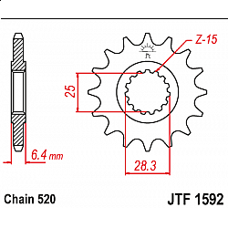 Roata dintata fata JTF1592,13