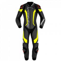 Combineson moto cu protectie spate SPIDI LASER PRO PERFORATED 1PC BLACK/FLUO YELLOW
