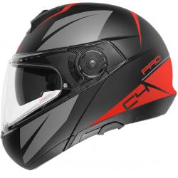 Casca moto SCHUBERTH C4 PRO BLACK/GRAY/RED MATT