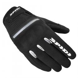 Mănuși moto din textil pentru femei SPIDI FLASH CE BLACK/WHITE
