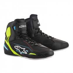 Cizme moto ALPINESTARS FASTER-3 BLACK/BLUE/YELLOW FLUO