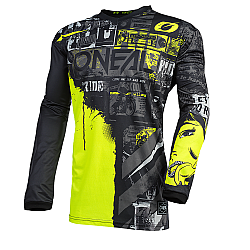 Bluza motocross O'NEAL ELEMENT RIDE BLACK/NEON YELLOW