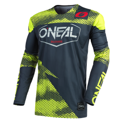 Bluza motocross O'NEAL MAYHEM COVERT CHARCOAL/NEON YELLOW