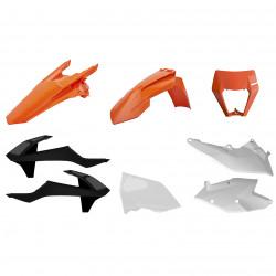 Kit plastic Enduro Polisport pentru KTM  EXC/ EXC-F/XC-W/ XCF-W-2017-19 Orange/White/Black