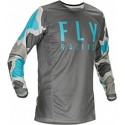 Bluza motocross  FLY RACING KINETIC K221-BLUE/GREY
