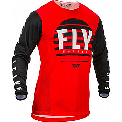 Bluza motocross FLY RACING KINETIC K220-BLACK/RED/WHITE