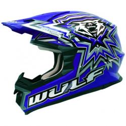 Casca Motocross WULFSPORT LIBRE X BLUE