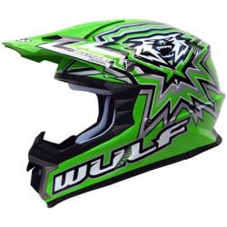 Casca Motocross WULFSPORT LIBRE X GREEN