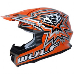 Cască Motocross WULFSPORT LIBRE X ORANGE